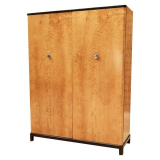 Swedish Art Deco Storage Cabinet in Flame Birch