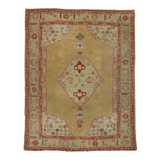 Antique Turkish Oushak Area Rug With Arts & Crafts Neoclassic Style - 09'03 X 11'10 For Sale