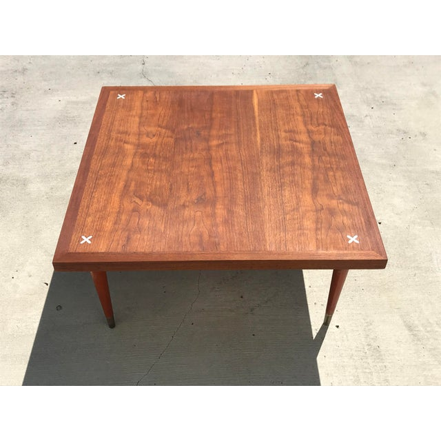 Gorgeous Mid Century Modern Coffee Table By American Of Martinsville Made Solid Walnut