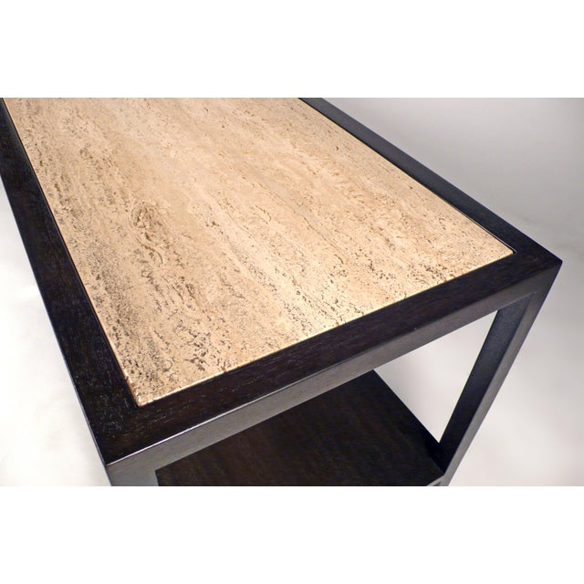 Harvey Probber Travertine Console Table For Sale In Dallas - Image 6 of 10