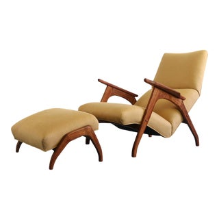 Sculptural Lounge Chair Inspired by Adrian Pearsall and His Iconic Grasshopper Chair, USA For Sale