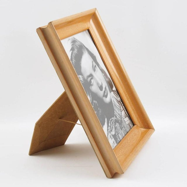 French Hollywood Regency Varnished Sycamore Picture Photo Frame - Image 2 of 5