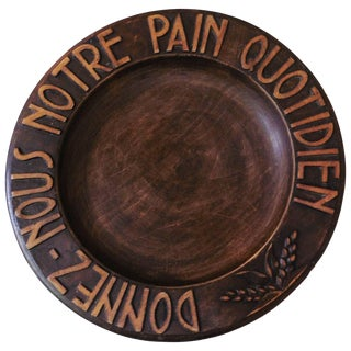 1950s French Provincial Wooden Bread Platter For Sale