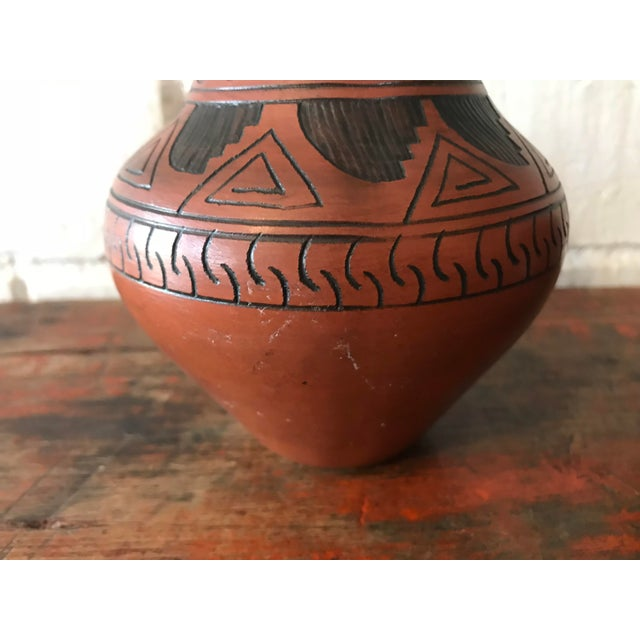 Navajo Brown Pottery Vases - a Pair For Sale - Image 9 of 10