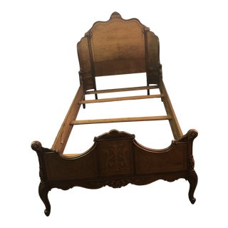 1940 French Provincial Mahogany Twin Bed For Sale