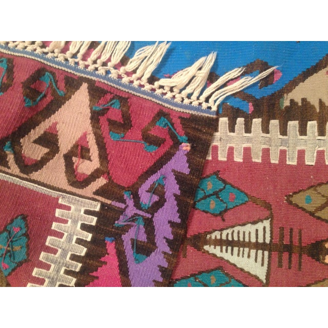 Jewel-Tone Kilim Runner - 2′3″ × 6′2″ - Image 3 of 7