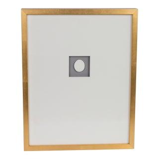 Framed Vintage Intaglio in Gold Leaf Frame For Sale