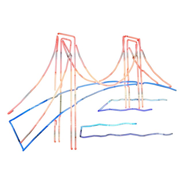 Vintage Golden Gate Bridge Neon Sign - Image 1 of 3