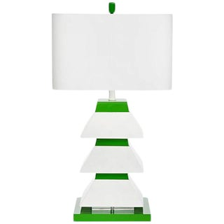 Couture Lamps Erzi Pagoda Lamp, Kelly Green For Sale