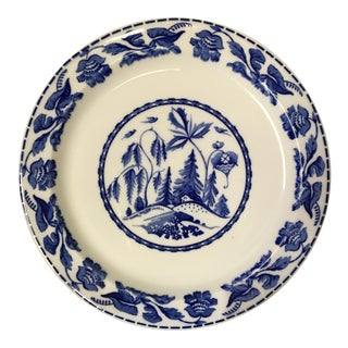 20th Century Asian Style Syracuse China Co. Blue and White Plate