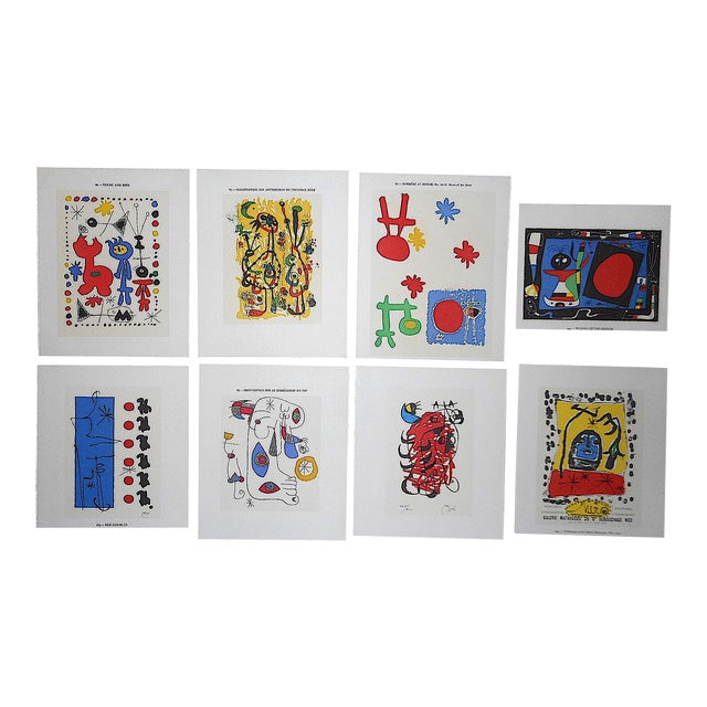 Vintage Modernist Abstract Lithographs-Joan Miro-Set of 8 For Sale