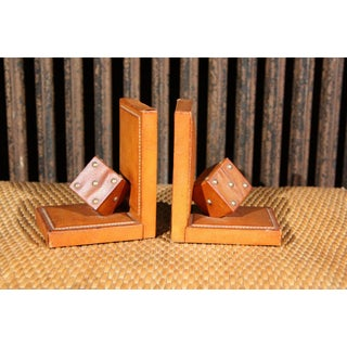 Pair of French Leather Dice Bookends Preview