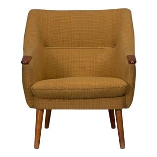 Low Back Danish Modern Lounge Chair For Sale