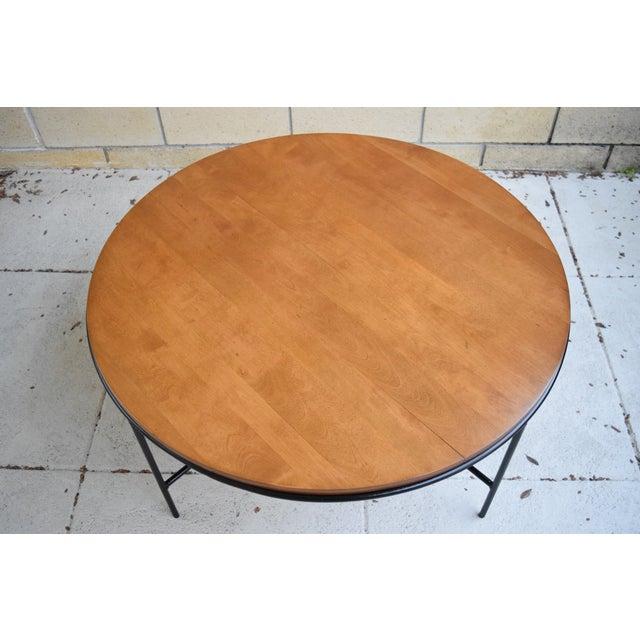 Paul McCobb Mid Century Modern Iron Base Round Coffee Table - Image 4 of 11