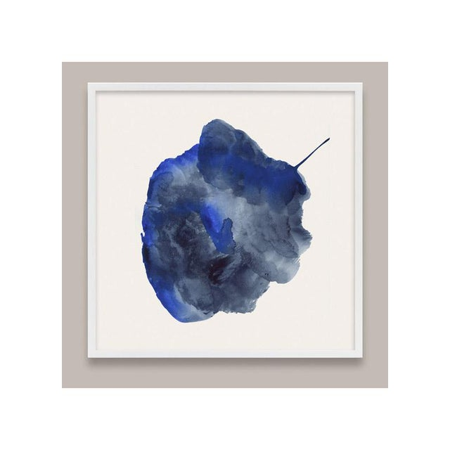 Watercolor Framed Blue Abstract Prints - Set of 6 For Sale - Image 7 of 9