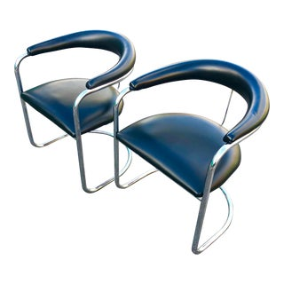 1980s Vintage Thonet Chrome Ss33 Cantilevered Chairs - a Pair For Sale