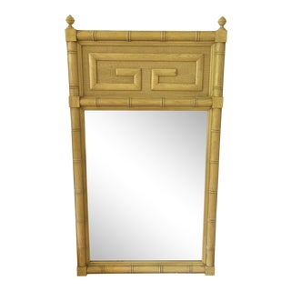 Kittenger Style Faux Bamboo Mirror For Sale