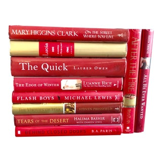 """Hues of Fire"" Large Hardcover Fiction Books - Set of 10 For Sale"