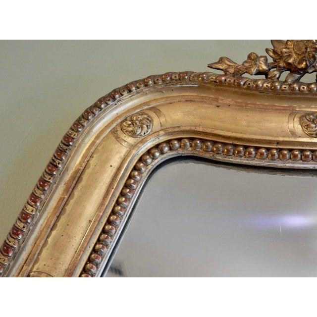 French 19th C Louis XVI Gilt Mirror For Sale - Image 3 of 5