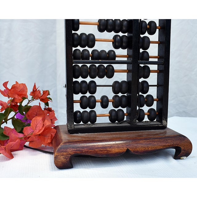 Vintage Abacus Base Table Lamp For Sale - Image 4 of 6