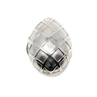 Sterling Silver Decorative Egg For Sale