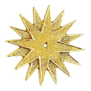 Addison Weeks Star Solid Brass Backplate in Polished Brass For Sale