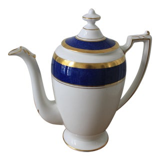 Athlone-Blue Coalport Coffee Pot For Sale