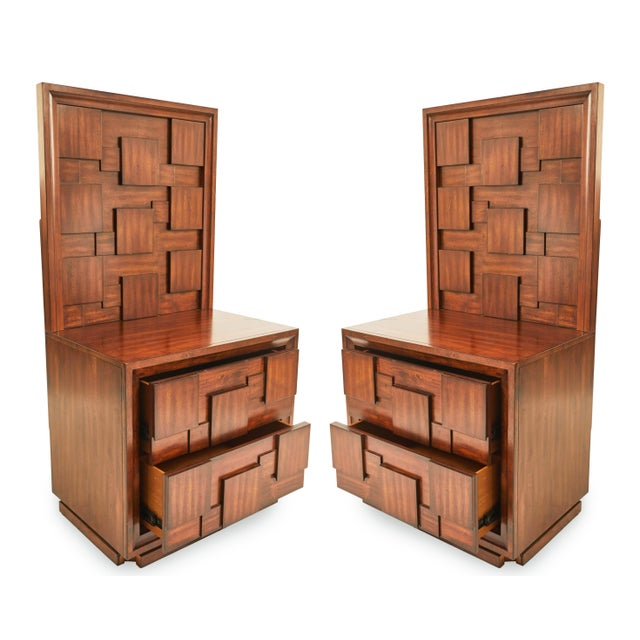 Early 20th Century American Mid-Century Mahogany Nightstands-a Pair For Sale - Image 9 of 9