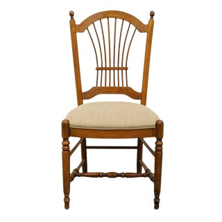 20th Century Traditional Ethan Allen French Collection Wheat Back Dining Side Chair For Sale