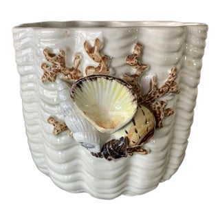 Vintage Fitz and Floyd Seashell Planter For Sale