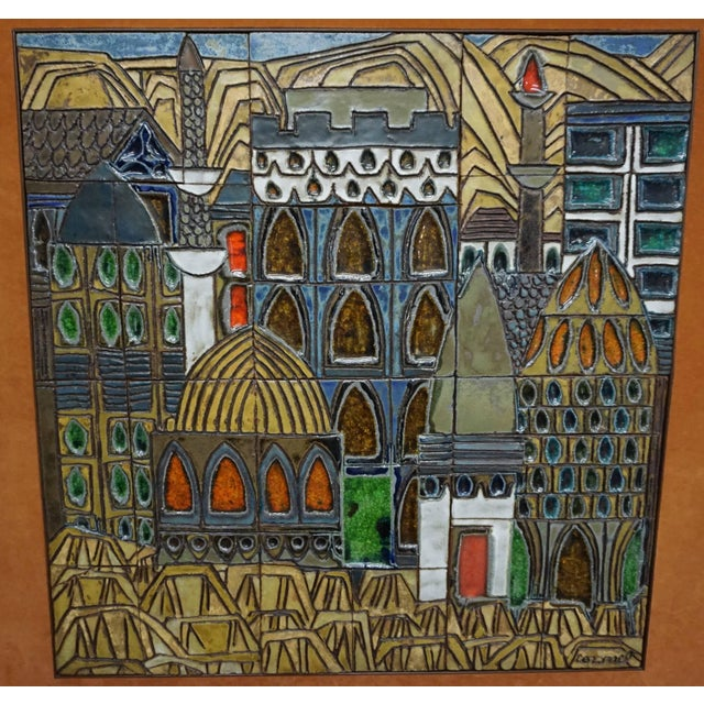 Mid-Century Modern Glazed Ceramic Tiles by Raul Coronel For Sale - Image 3 of 7