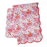 Image of Pink Floral Rectangle Tablecloth For Sale