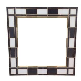 Black & White Mirror For Sale