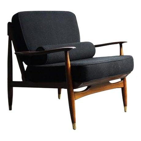 Finn Juhl Attributed Walnut Lounge Chair - Image 1 of 6
