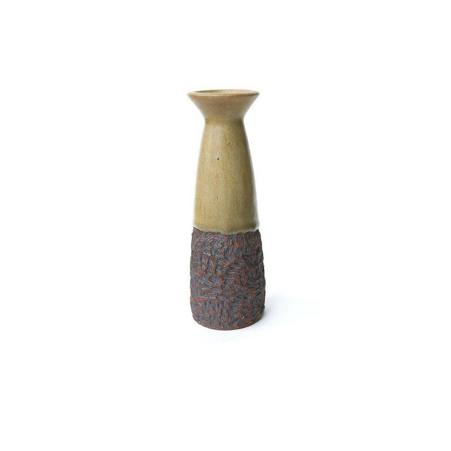 Mid-Century Stoneware Vase For Sale - Image 4 of 4