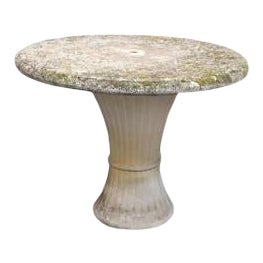 French Vintage Cast Stone Table, C.1960 For Sale