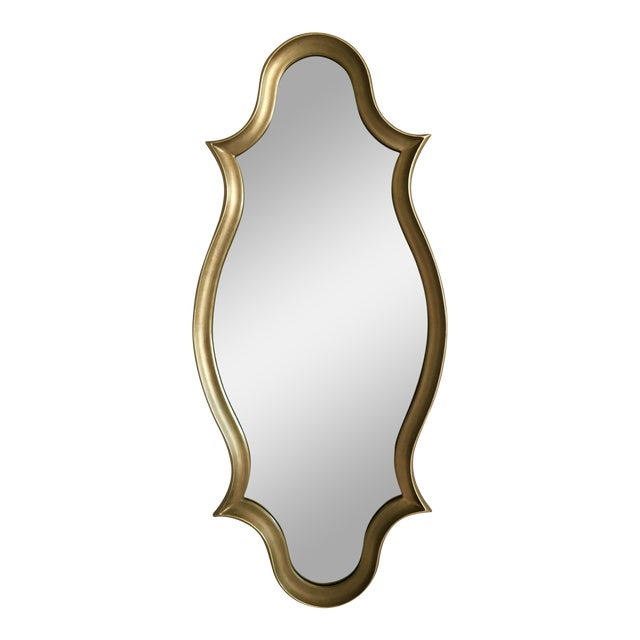 Gilt Wood Cartouche Form Framed Mirror - Image 1 of 7