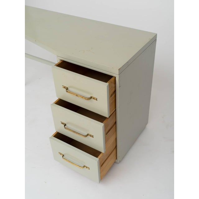 Tommi Parzinger Style Celadon Lacquered Desk For Sale In New York - Image 6 of 9