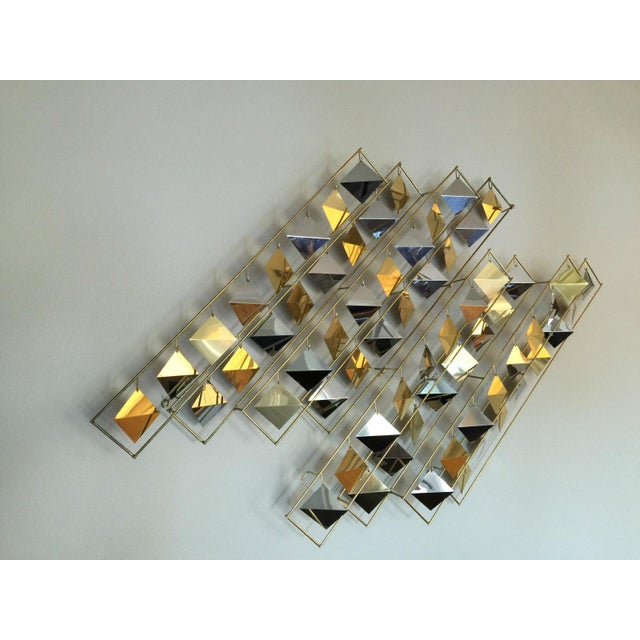 Curtis Jere Kinetic Brass Wall Sculpture - Image 4 of 9