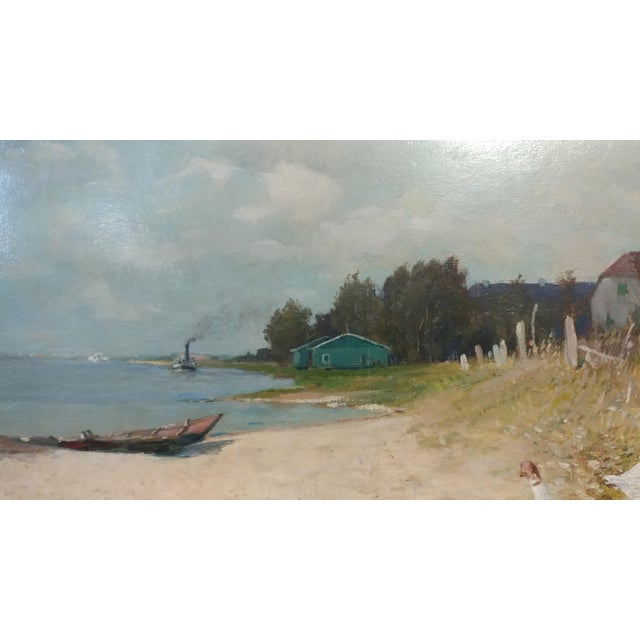 """Gari Melchers """"Belmont Lakeshore View"""" Oil Painting c.1920s For Sale In Los Angeles - Image 6 of 10"""