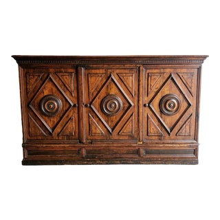 Early 18th Century Italian Carved Walnut Credenza For Sale