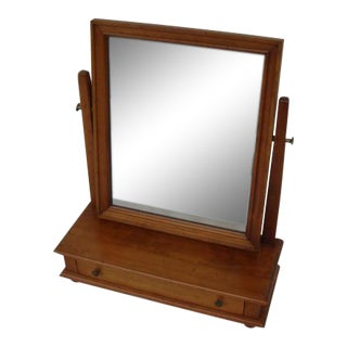 Stickley Vanity Shaving Dresser Top Mirror With Drawer For Sale