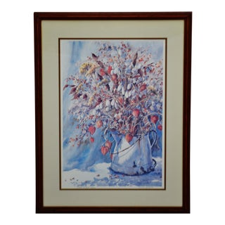 Vintage Framed Sandra Giangiulio Limited Edition Lithograph - Artist Signed For Sale