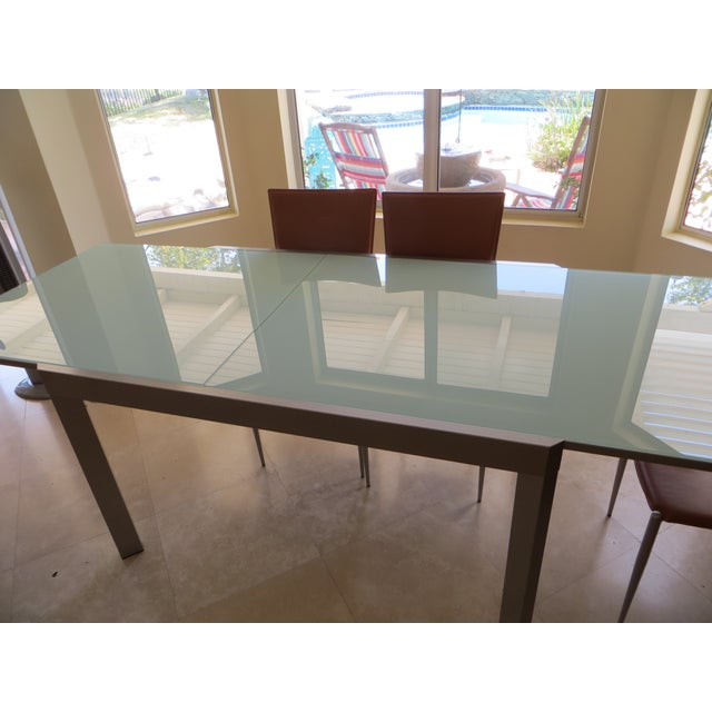 Calligaris Extendable Tempered Glass Dining Set - Image 7 of 11