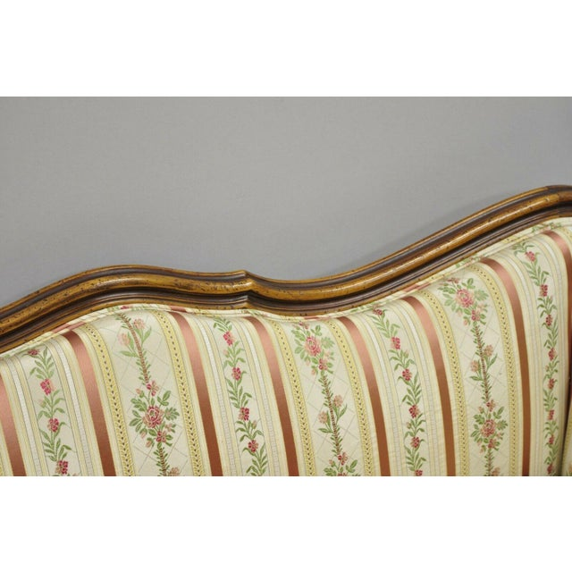 White Early 20th C. Vintage French Louis XV Provincial Style Sofa For Sale - Image 8 of 12