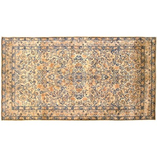 Early 20th Century Antique Persian Kerman Oriental Rug - 3′ × 5′3″ For Sale