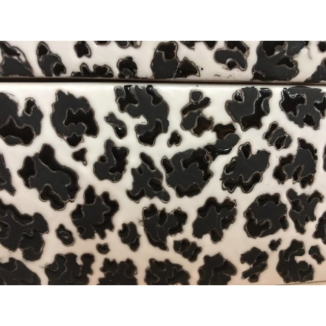 Animal Print Porcelain Black & White Box - Image 4 of 5
