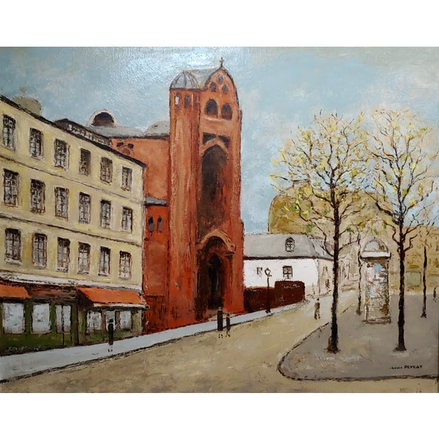 French Louis Peyrat -Paris Street Scene - Oil Painting For Sale - Image 3 of 11