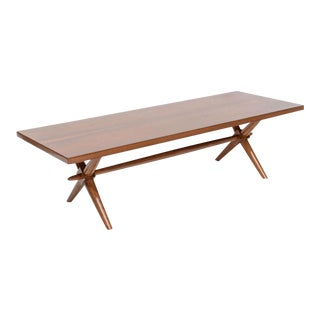 American Modern Walnut Low Table, Robsjohn-Gibbings For Sale