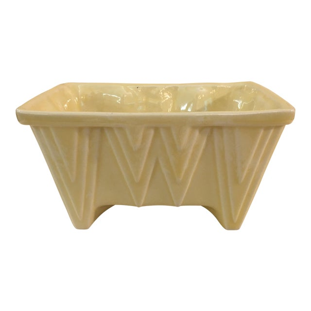 CP Cookson Art Deco Style Yellow Planter - Image 1 of 8